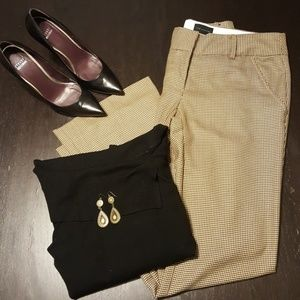 The Limited Size 6 Drew Tan Houndstooth Pants